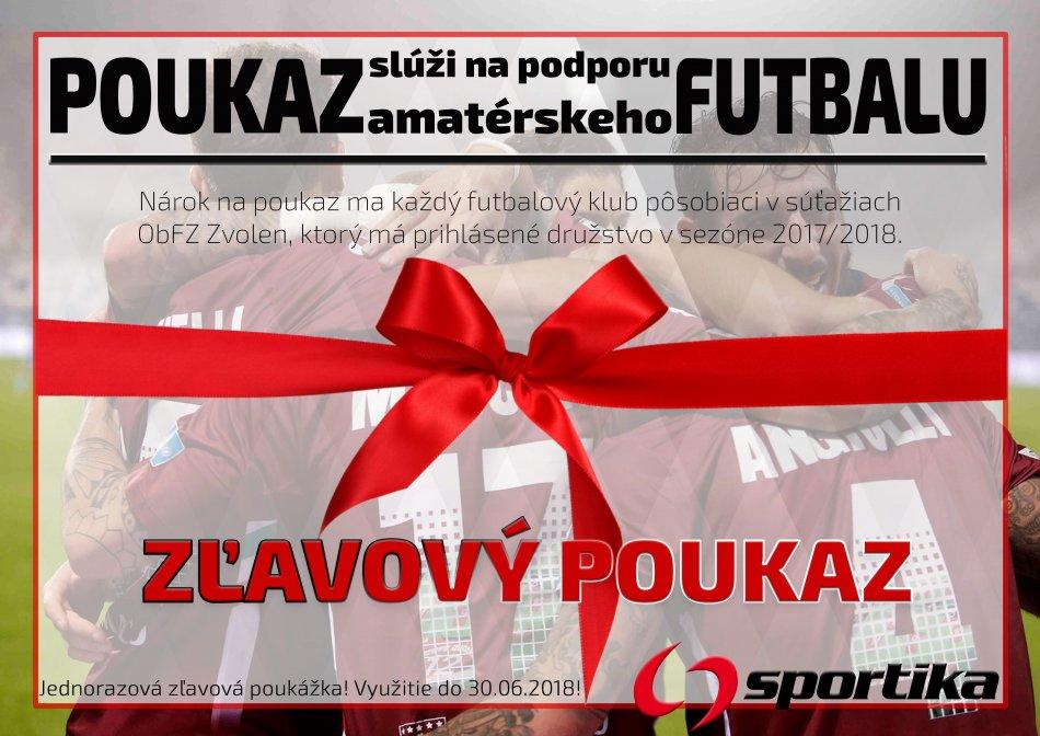 Zľavový poukaz pre futbalové kluby ObFZ ZV